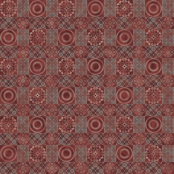 spanish mosaic red