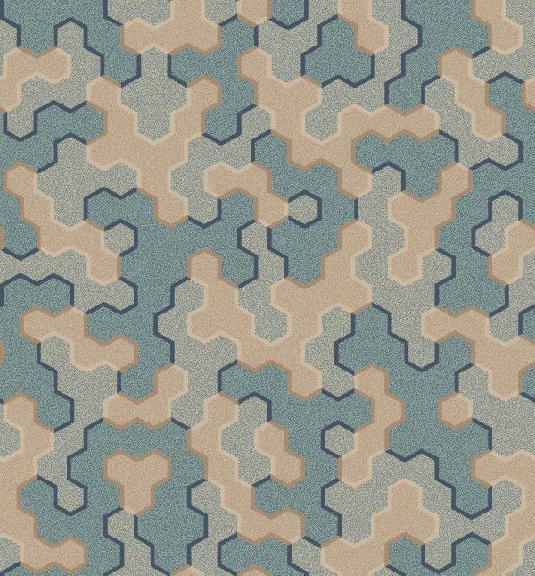 polygon patch  light blue