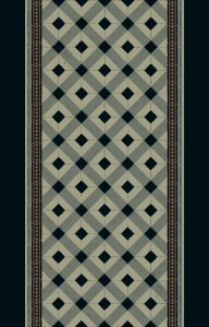 carreaux corridor 195 cm  black