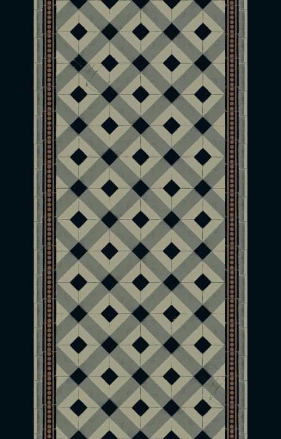 carreaux corridor 195 cm  black
