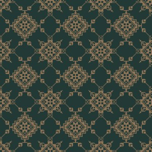 trondheim embroidery  green