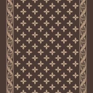 woven ribbon corridor 195 cm  brown
