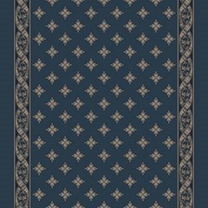 woven ribbon corridor 195 cm  blue