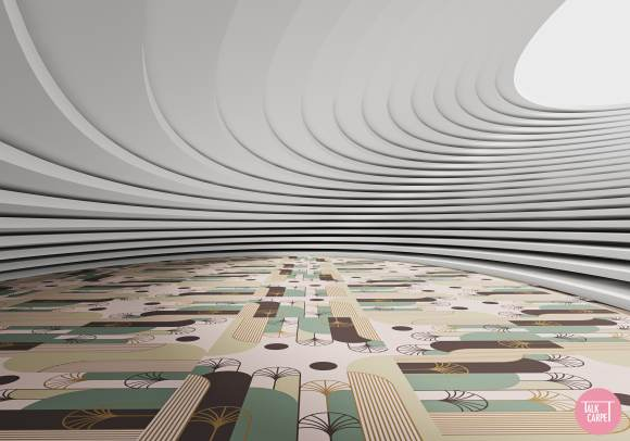 art deco carpet, Art deco carpet pays homage to 20th-century Belgian Art Deco