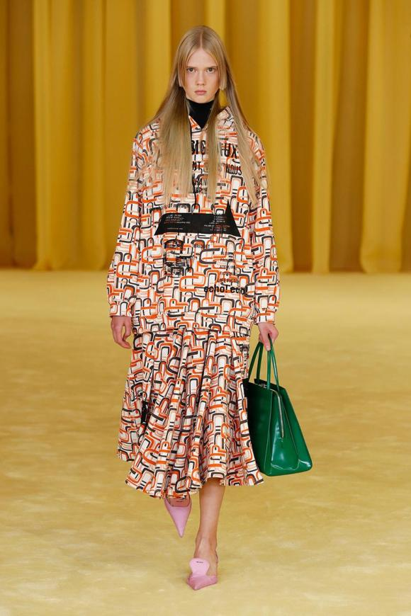 , Material palette inspired by the Prada SS2021 collection