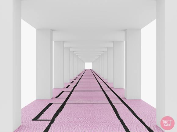 pink carpet design, Chanels signature tweed translated onto this pink carpet design