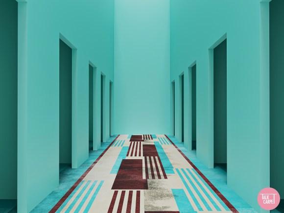 hotel corridor carpet, Hotel corridor carpet that stuns through unique color use