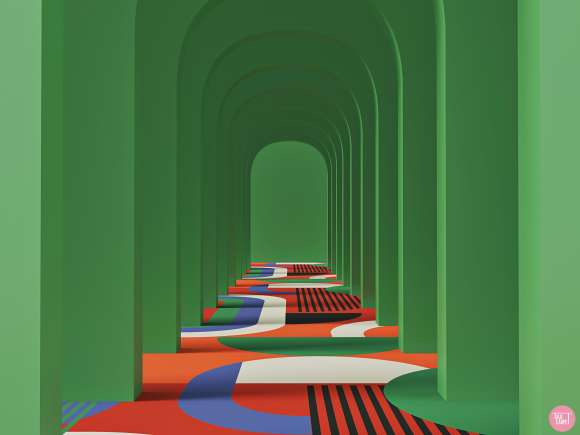 corridor carpet designs, Corridor carpet designs blending South African colors with bold graphics