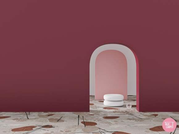 distressed carpet, Distressed carpet as an organic interpretation of a distressed wall