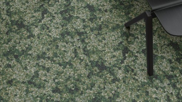 moss carpet, Moss carpet on a materials palette inspired by upcycled art
