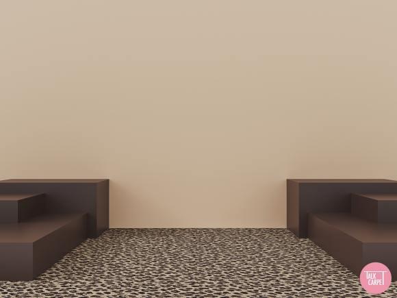 leopard carpet, Leopard carpet palette with a distinct vintage flair