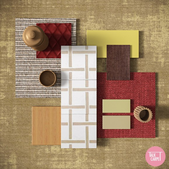 patina carpet, Patina materials palette inspired by vintage Italian photo booths