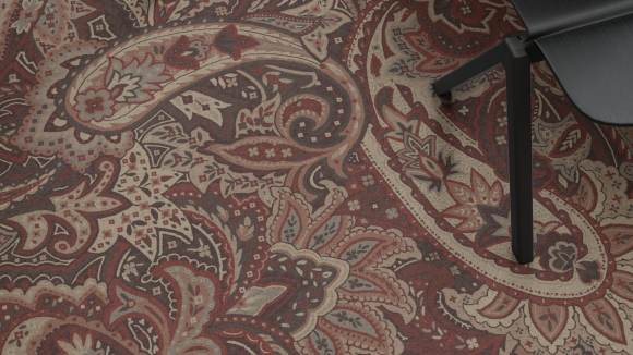 paisley carpet, Palette with paisley carpet as a tribute to Milan based Etro