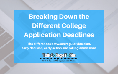 Breaking Down the Different College Application Deadlines