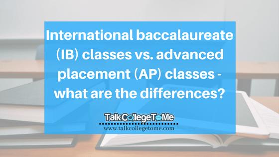 International baccalaureate (IB) classes vs  advanced