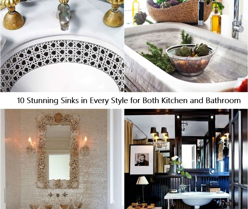 10 Stunning Sinks in Every Style for Both Kitchen and Bathroom