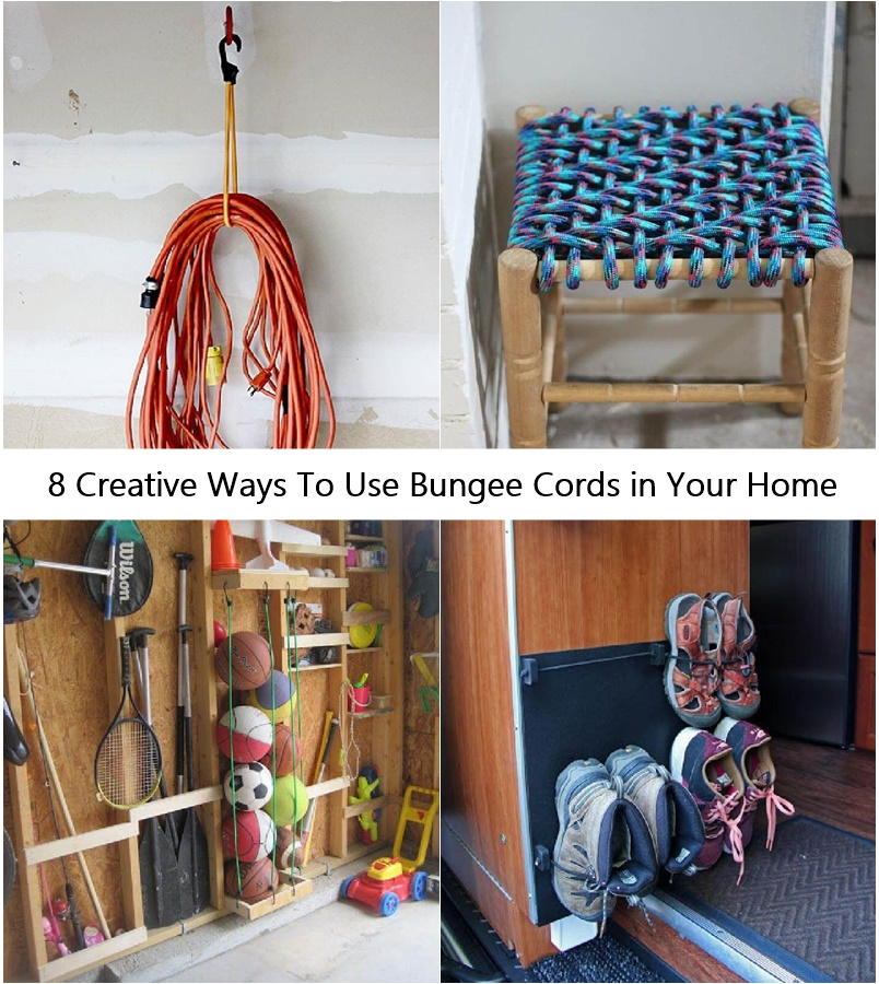 8 Creative Ways To Use Bungee Cords in Your Home