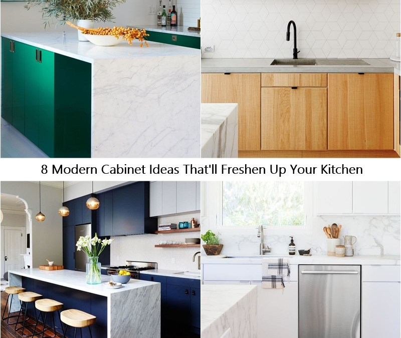 8 Modern Cabinet Ideas That'll Freshen Up Your Kitchen