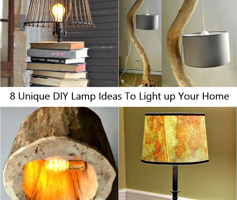 8 Unique DIY Lamp Ideas To Light up Your Home