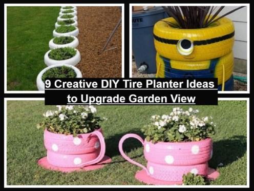 9 Creative DIY Tire Planter Ideas To Upgrade Garden View
