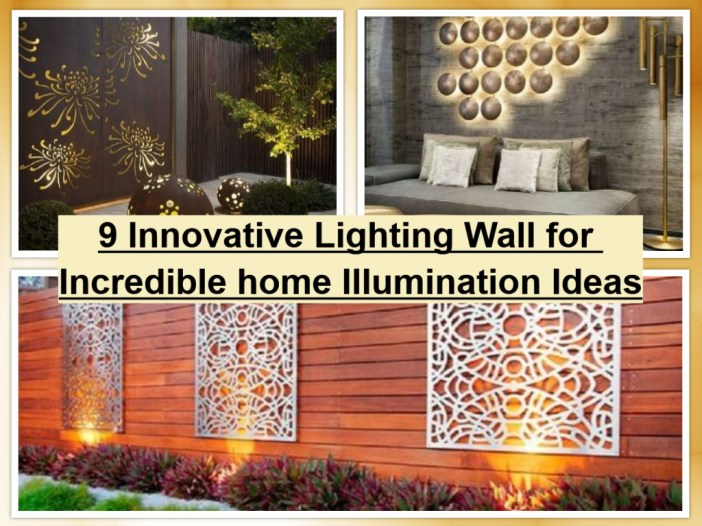 9 Innovative Lighting Wall For Incredible Home Illumination Ideas