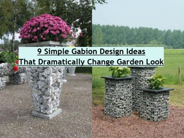 9 Simple Gabion Design Ideas That Dramatically Change Garden Look