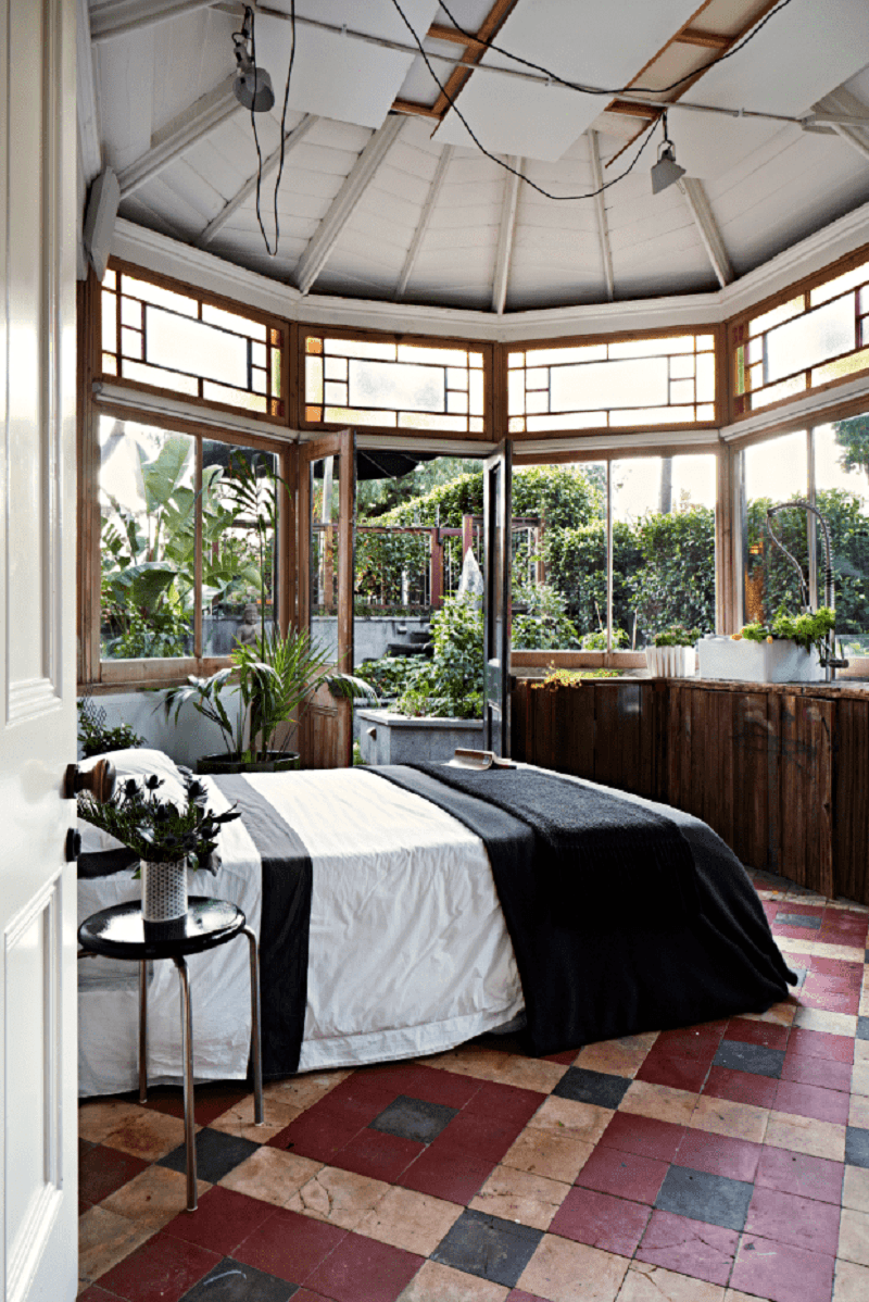 A Greenhouse Bedroom
