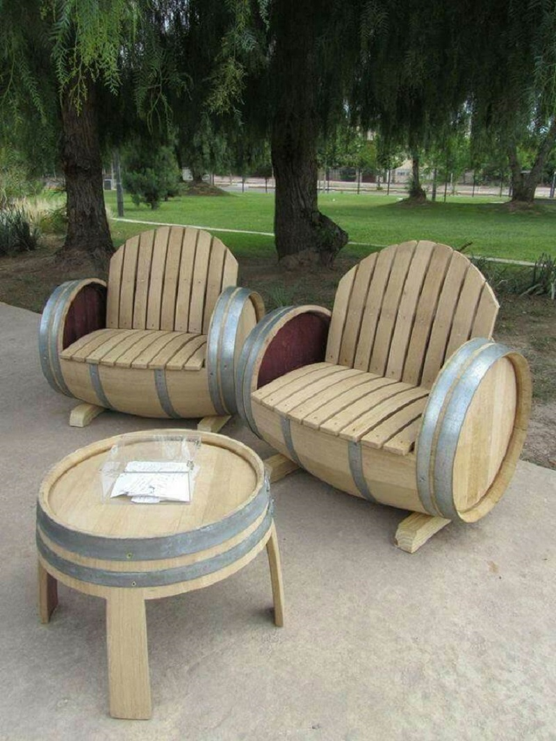 Barrel Luxury Restructured Patio Set