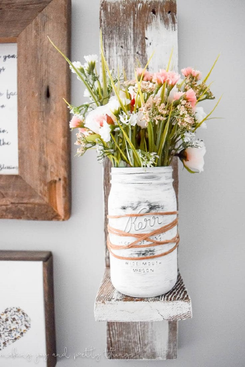 Farmhouse Painted Mason Jar