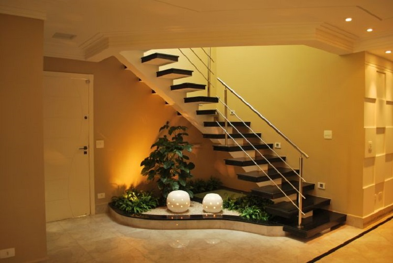 Garden Below Staircase
