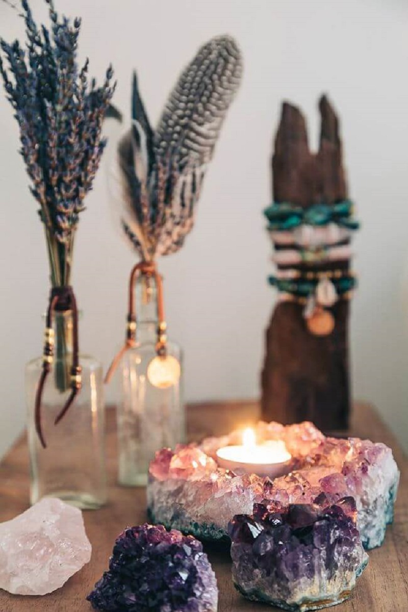 Geode Lights And Lavender Crystal