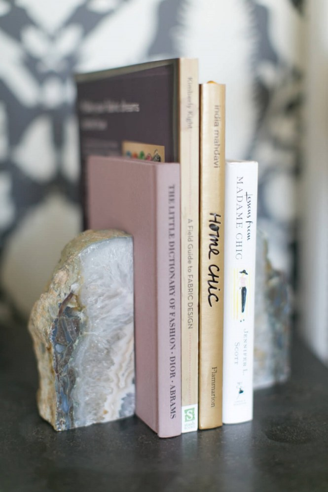 Gray Marbleized Stone Book Ends