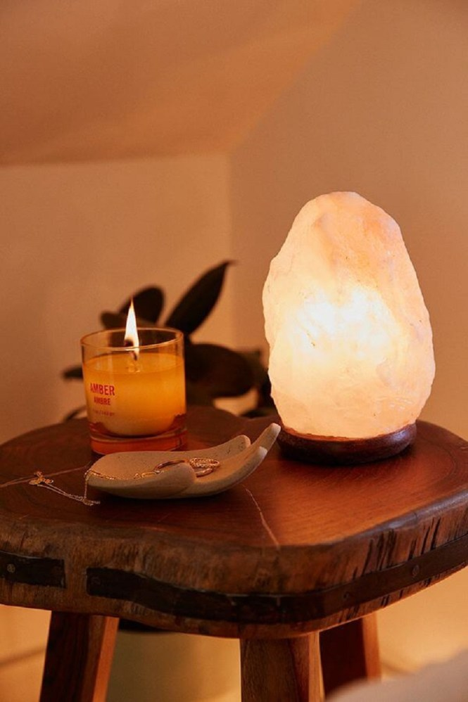 Himalayan Crystal Salt Lamp Light