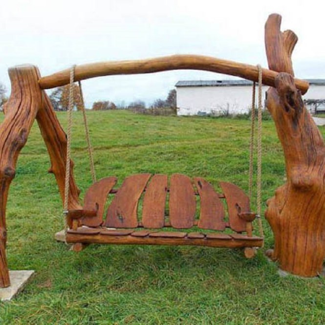 Swing Wooden Bench