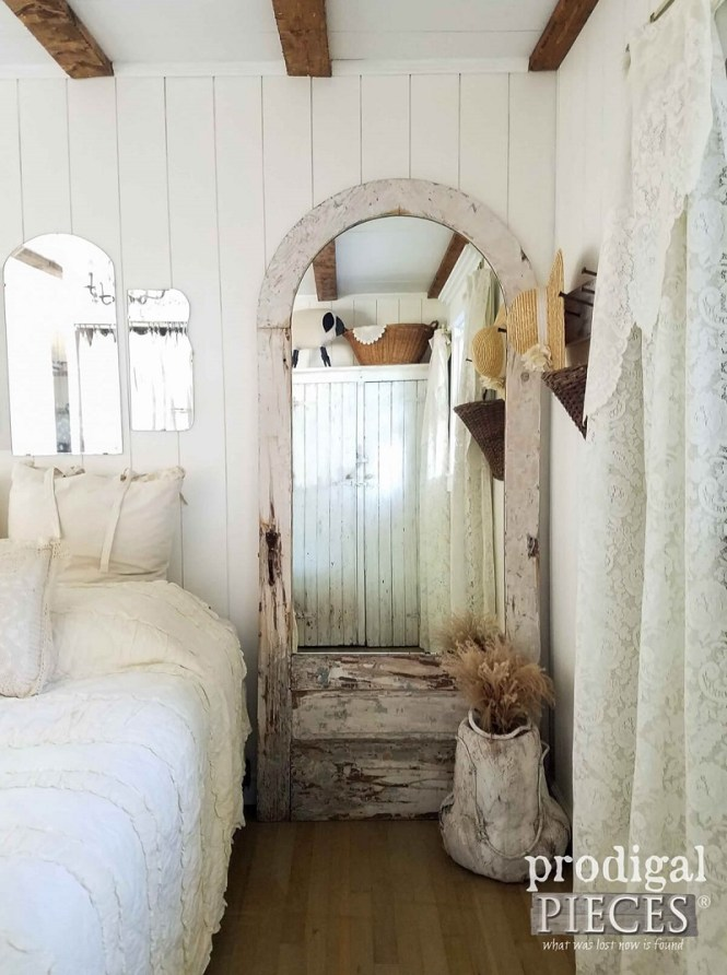 Weathered Old Door With Mirror Glass