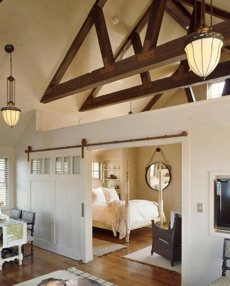 White Barn Door For Bedroom