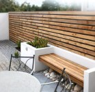 Wooden Bench With White Frame