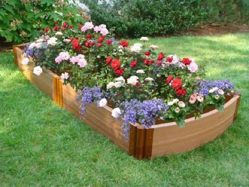 Long Container Flower Bed