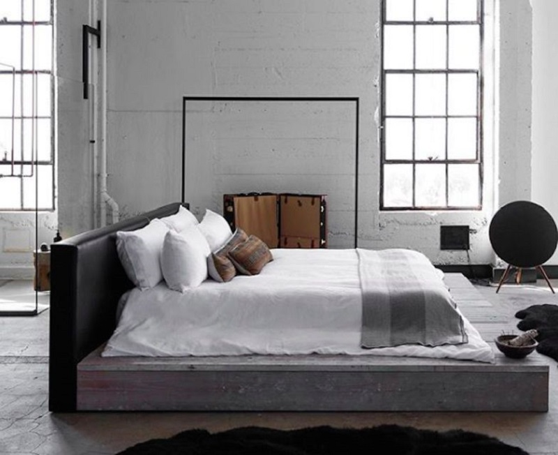 Bedroom With A Platform Bed