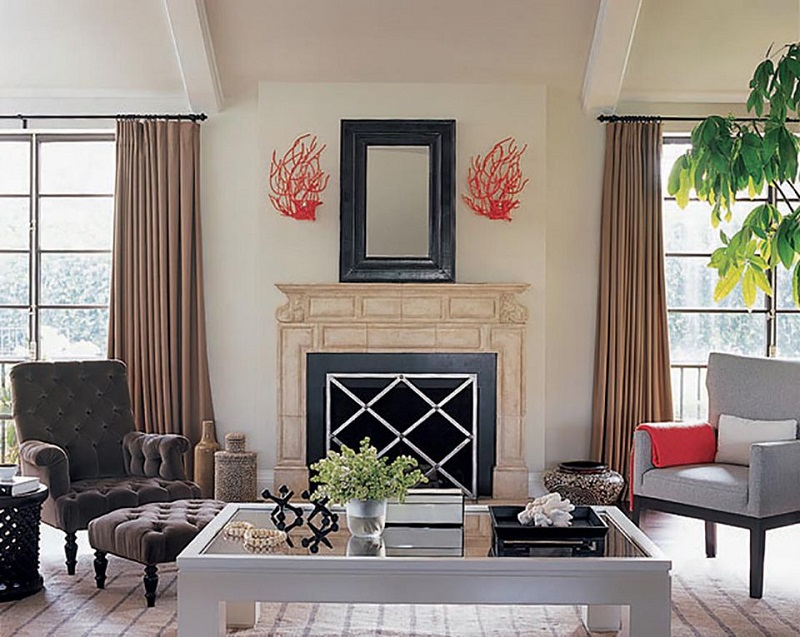 Modern And Playful Mantel