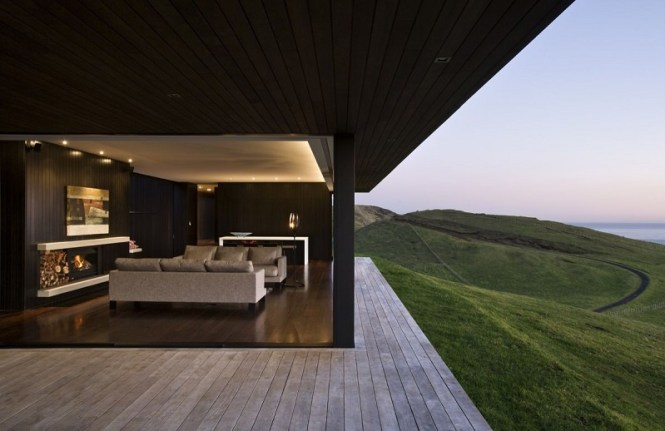 A Modern Day Fort Overlooking The Sea