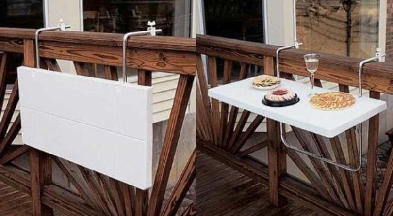 Folding Balcony Table