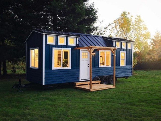 Navy Blue Tiny House Color