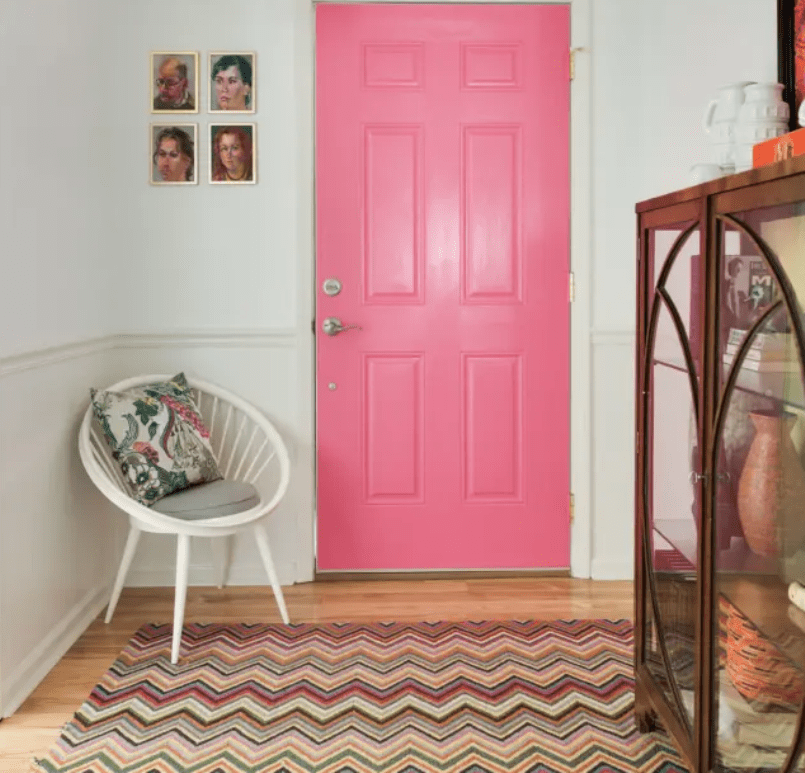 Pink Color For Entryway