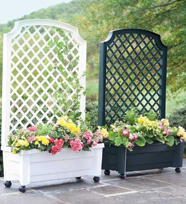 Simple Beautiful Planter With Trellis Included