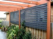 Slatted Privacy Panels
