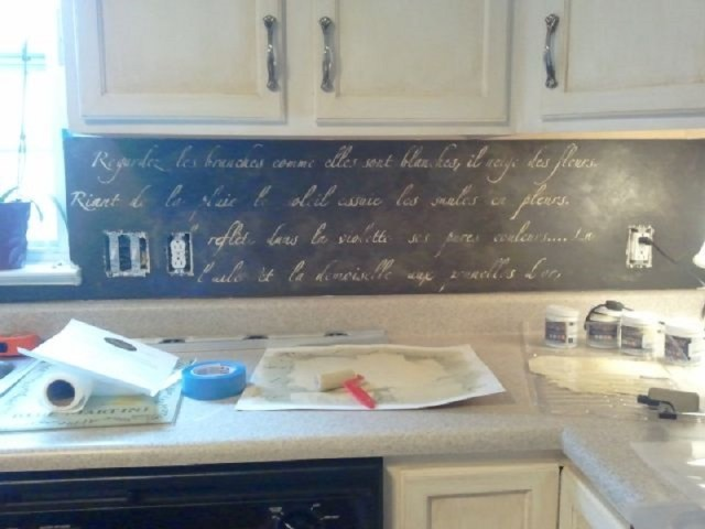 Stencil Kitchen Backsplash