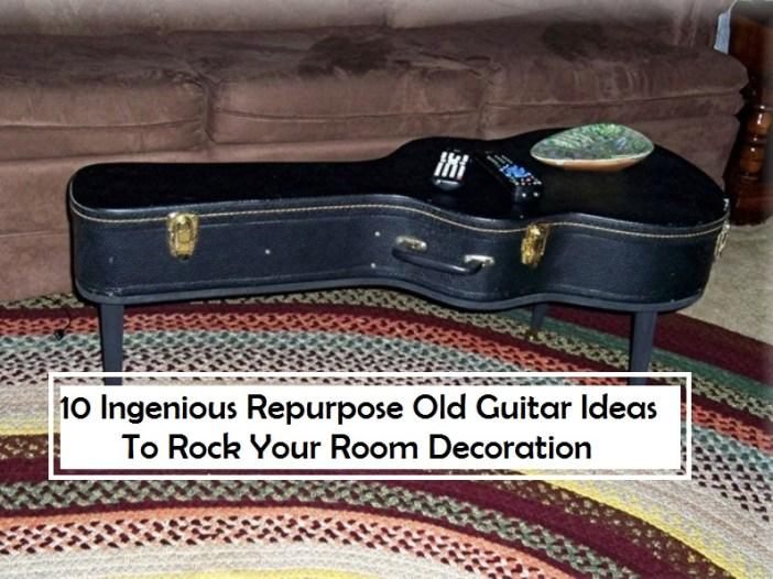 10 Ingenious Repurpose Old Guitar Ideas To Rock Your Room Decoration