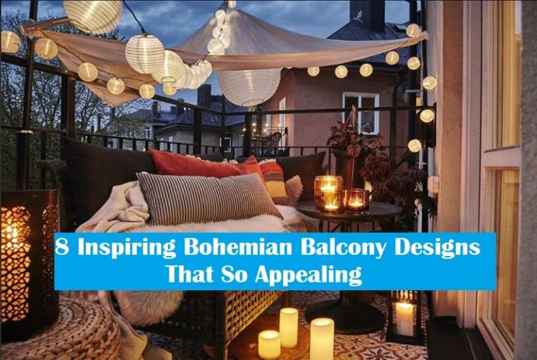 8 Inspiring Bohemian Balcony Designs That So Appealing