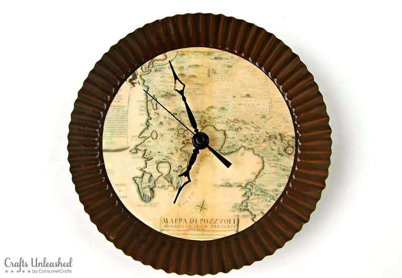 Antique Map Wall Clock